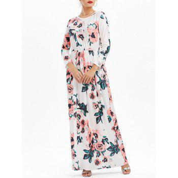 Floral Pockets Long Dress