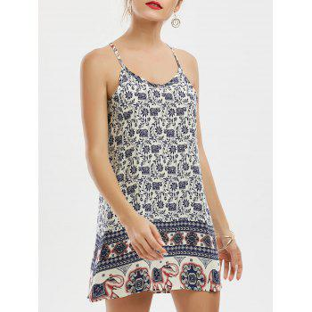 Sleeveless Tribal Print Mini Dress