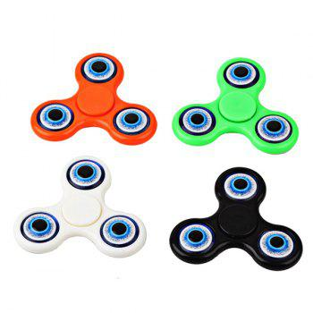 Devil Eyes Pattern Focus Toy Hand Fidget Spinner - BLACK