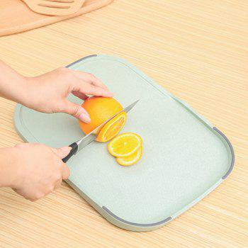 Creative Wheat Straw Food Vegetables Material Cutting Board -  GREEN
