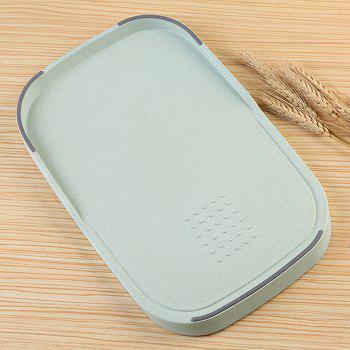 Creative Wheat Straw Food Vegetables Material Cutting Board - GREEN GREEN
