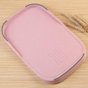 Creative Wheat Straw Food Vegetables Material Cutting Board - PINK PINK