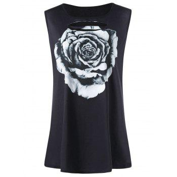 Plus Size Floral Cut Out Tank Top