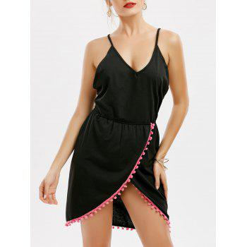 Backless Tassel Front Slit Halter Dress