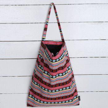 Canvas Tribal Print Shopper Bag