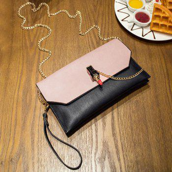 Chains Lipstick Cross Body Bag - PINK