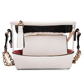 Pouch Bag and Transparent Crossbody Bag