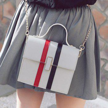 Top Handle Contrast Stripe Handbag
