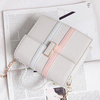 Top Handle Contrast Stripe Handbag -  GRAY