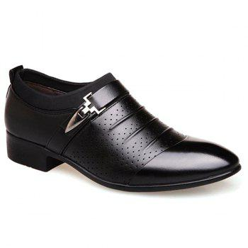 Breathable Pleated Formal Shoes - BLACK 43