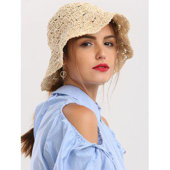 Crocheting Folding Breathable Straw Hat
