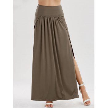High Slit Longline Skirt