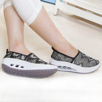 Slip On Print Sheer Sneakers - BLACK 40