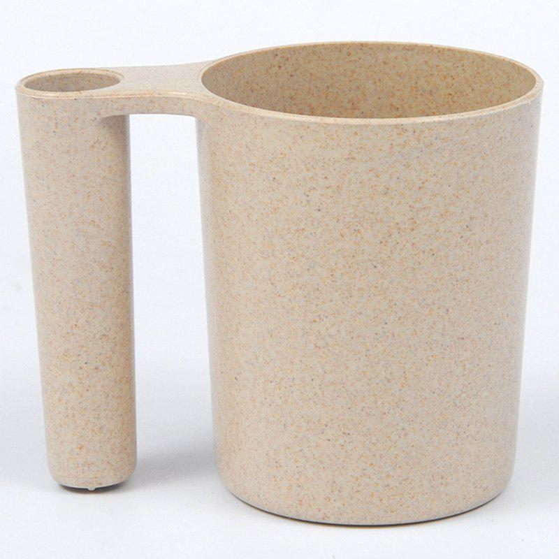 Wash Gargle Wheat Straw Tooth Mug Tasse à dents - Beige