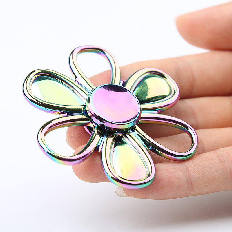 Flower Shape Colorful Fidget Metal Spinner - multicolorcolore