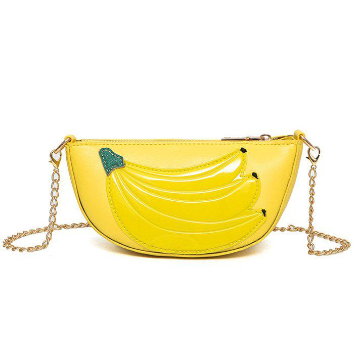 Banana Chain Crossbody Bag - YELLOW