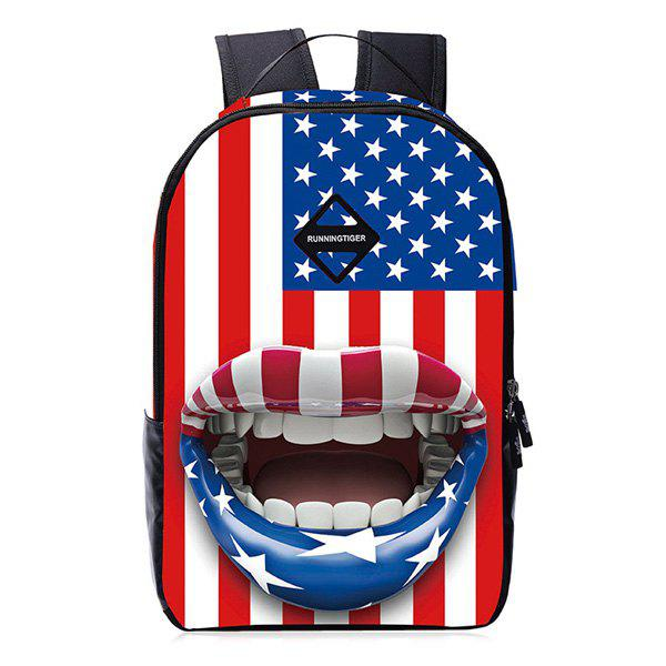 Stars and Stripes 3D Print Backpack - RED