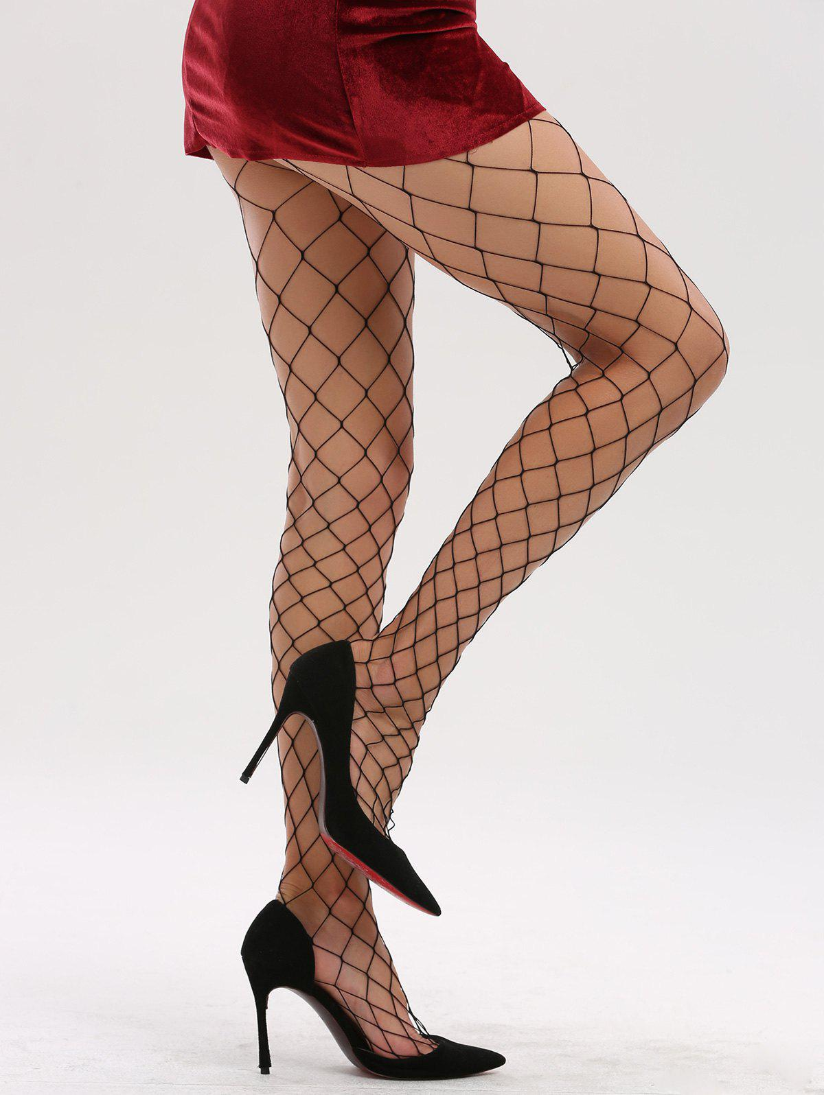 See Through Hollow Out Fishnet Tights sheer flower pattern fishnet tights