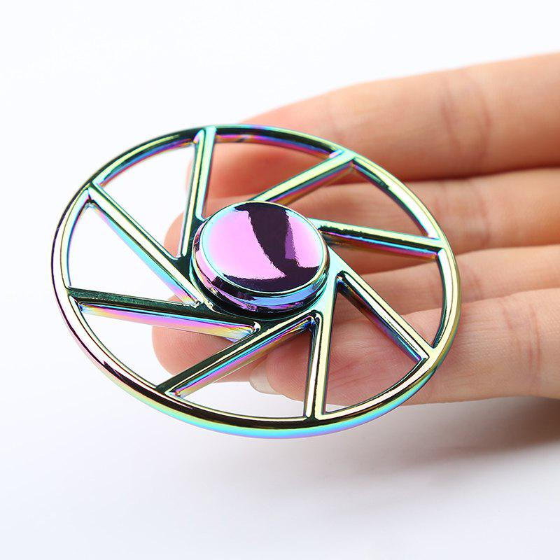 Wheel Shape Colorful Metal Fidget Spinner - COLORMIX