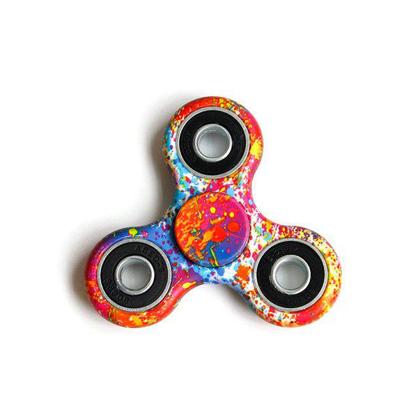 Paint Splatter Printed Focus Toy Hand Fidget Spinner - RED