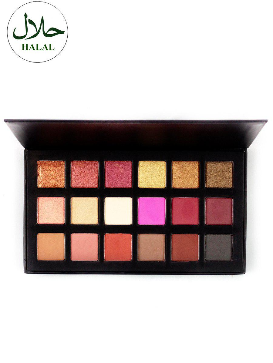 Halal Mineral Powder Eyeshadow Palette - COLORFUL