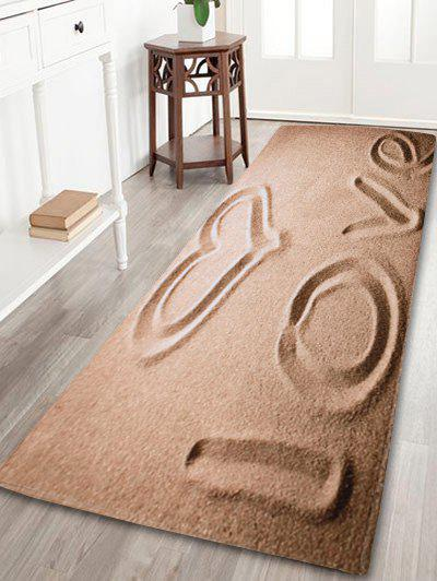 Coral Velvet Antislip Beach Love Letter Bath Rug colorful stripe antislip coral velvet area rug