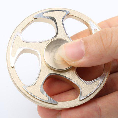 Wheel Aluminium Alloy Finger Gyro Hand Spinner - GOLDEN 6.3*6.3*1.5CM