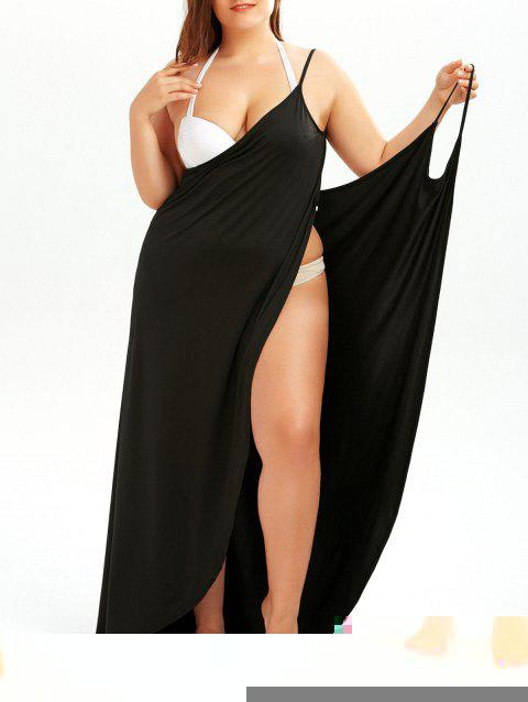 22 Off 2018 Plus Size Beach Wrap Cover Up Dress In Black 2xl