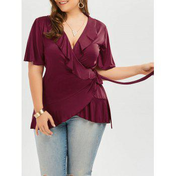 Frilly Plus Size Wrap Top
