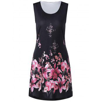 Floral Print Shift Tank Dress