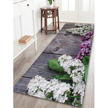 Coral Velvet Flowers Indoor Outdoor Area Rug