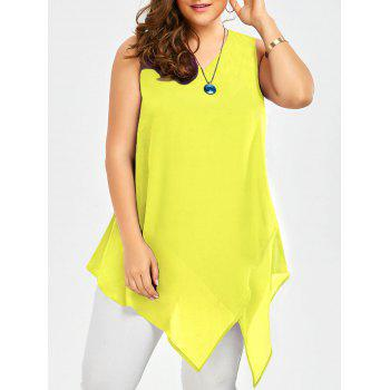 Plus Size Sleeveless Asymmetric Tank Top