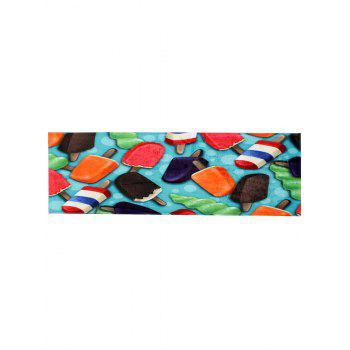 Colorful Ice-lolly Coral Velvet Bathroom Floor Rug - COLORMIX W16 INCH * L47 INCH