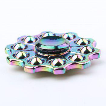 Zinc Alloy Colorful Finger Gyro Hand Spinner - COLORFUL 6*6*1.5CM