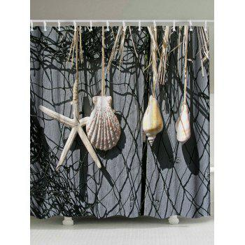 Starfish Shell Water Resistant Shower Curtain