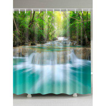 Spring Water Landscape Polyester Fabric Shower Curtain