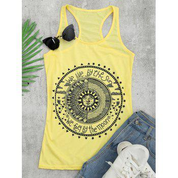 Racerback Graphic Tunic Top