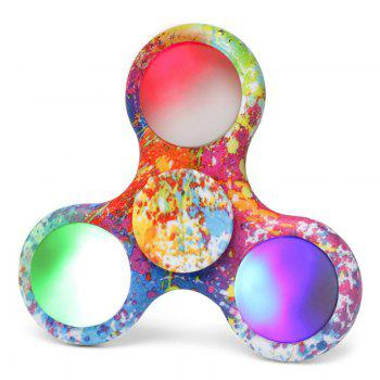 Plastic Patterned Fidget Spinner with Flashing LED Lights