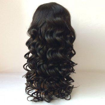 Dyed Perm Free Part Long Body Wave Lace Front Hair Hair Wig - Noir