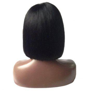 Dyed Perm Full Bang Straight Short Bob Lace Front Hair Hair Wig - Noir 10INCH