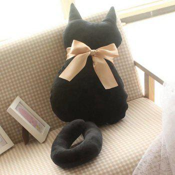 Cartoon Bowknot Cat Doll Cushion Throw Pillow Stuffed Toy