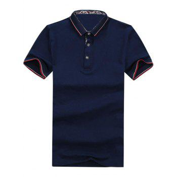 Half Button Contrast Trim Golf Shirt