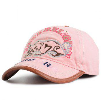 Denim Letters Cat Embroidered Baseball Cap