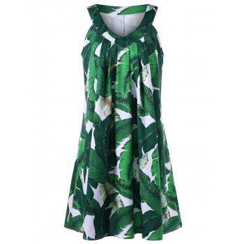 Sleeveless Tropical Tent Dress