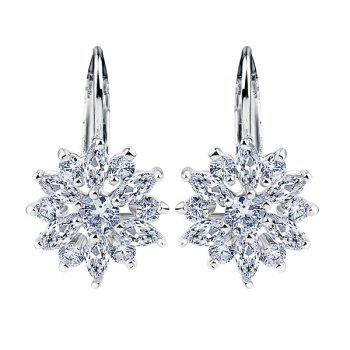 Rhinestone Blossom Earrings