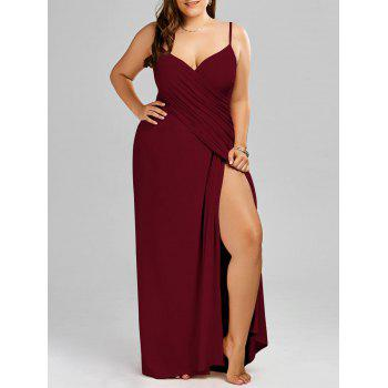 Plus Size Maxi Flowy Beach Cover Up Wrap Dress