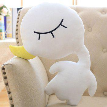 Creative Stuffed Toy Goose Velboa Sofa Throw Pillow