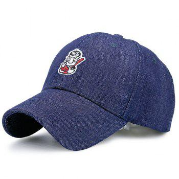 Double Cartoon Figure Embellished Baseball Cap