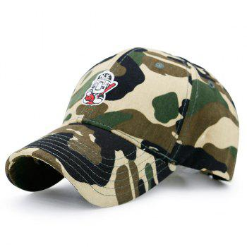 Camo Cartoon Figure Embroidery Baseball Cap