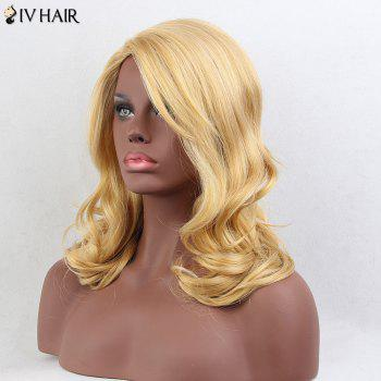 Siv Hair Long Side Parting Wavy cheveux humains perruque - Or